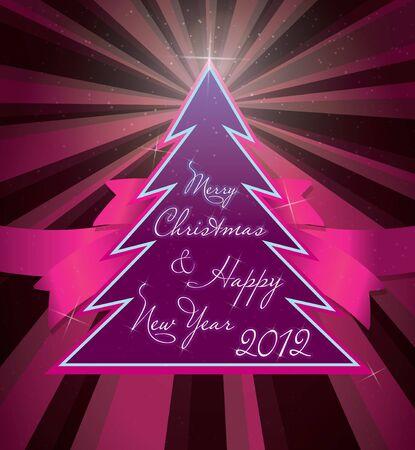 christmas greeting card Stock Vector - 10938036