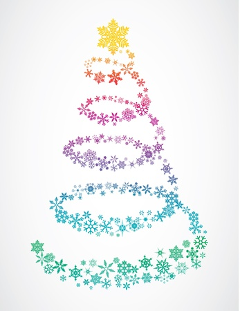 Christmas tree of snowflakes