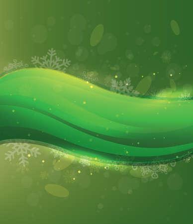 Green Christmas Card Illustration