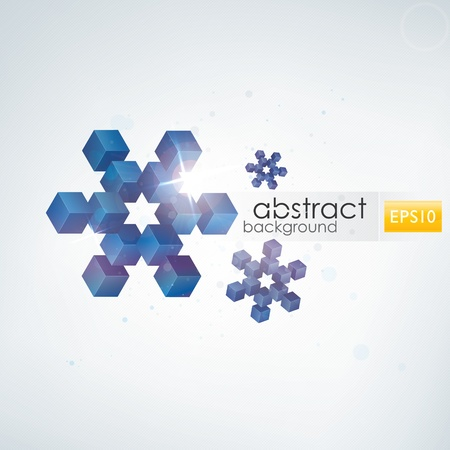 Snowflakes background Stock Vector - 11102425