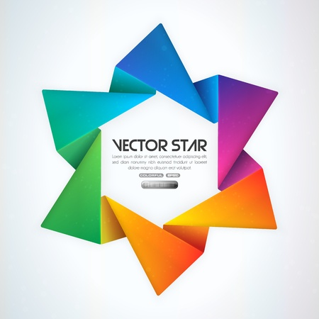 rainbow color star: Vector star
