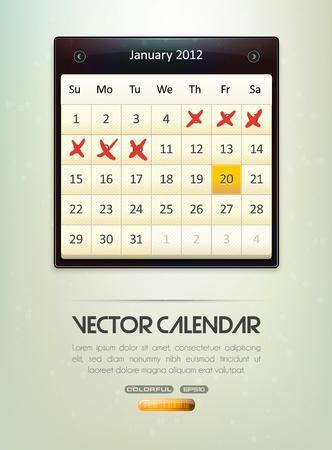 Vector Calendar Vector