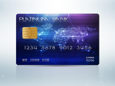 plastic card: Credit card