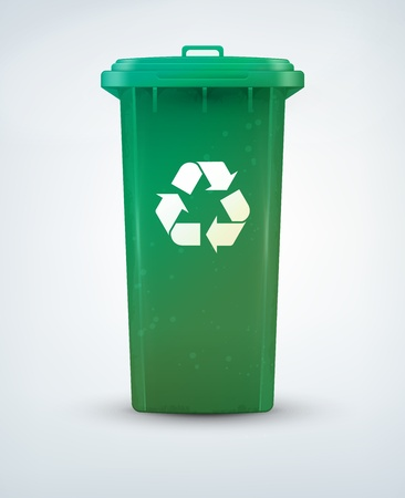 reciclar vidrio: Papelera de reciclaje