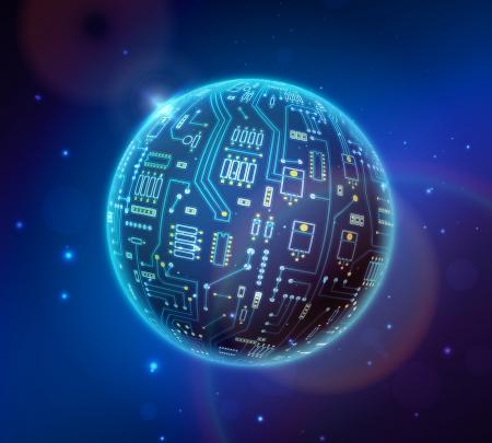 techno globe Illustration