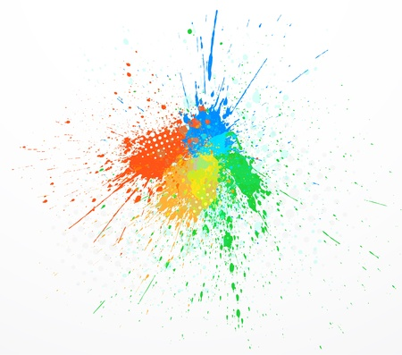 paint splashing Vector