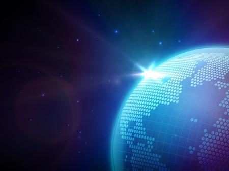 globe in space Stock Vector - 13830415