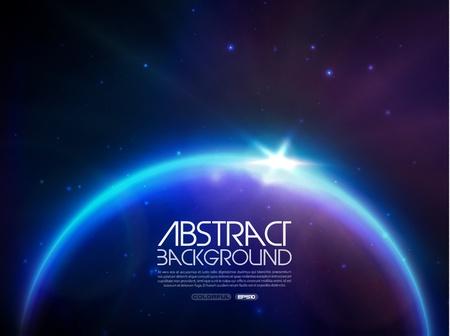 globe in space Stock Vector - 13903870