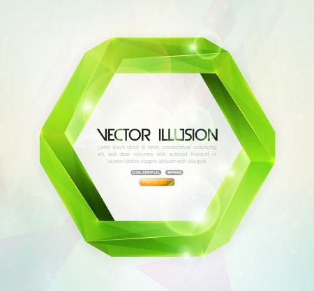 Impossible figure  Vector illusion  Illustration