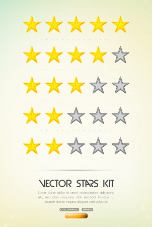 rank: rating stars Illustration
