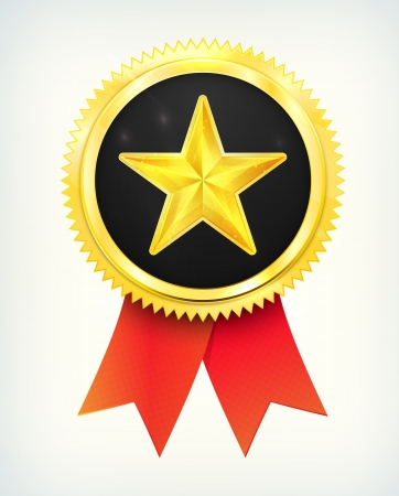 best choice golden star label with ribbons Illustration