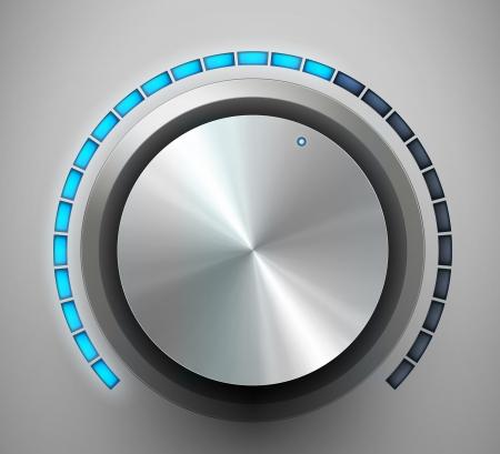 Volume knob  Vector illustration
