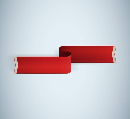 red textured ribbon  illustration