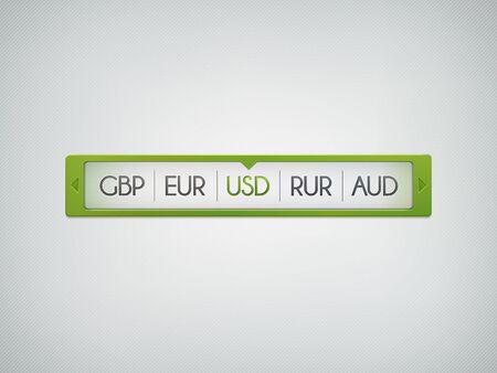 web scroll bar  illustration Stock Vector - 14232174