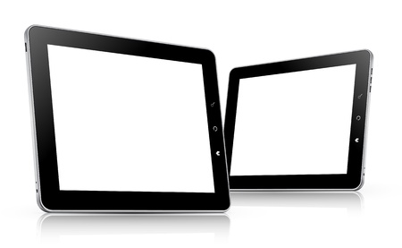 tablet computer set illustration Vector