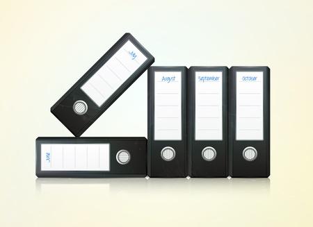 dossier: office folders binder illustration