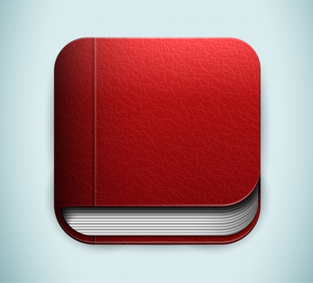 old diary: Red book icon