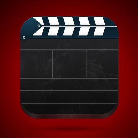 clap board: Cine aplaudir bordo de cine Vectores