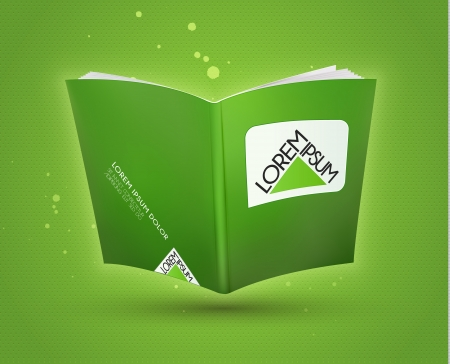 Blank book open template  Vector