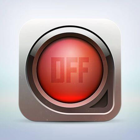 metallic glossy power button Stock Vector - 14732816