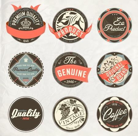 vintage design retro labels Illustration