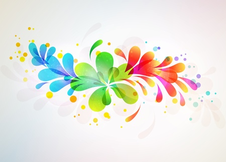 Floral abstract background  illustration Stock Vector - 14982725