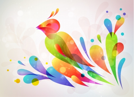 Floral abstract background   illustration