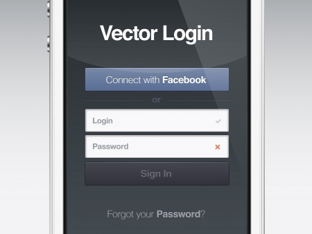 login button: web page login password security screen