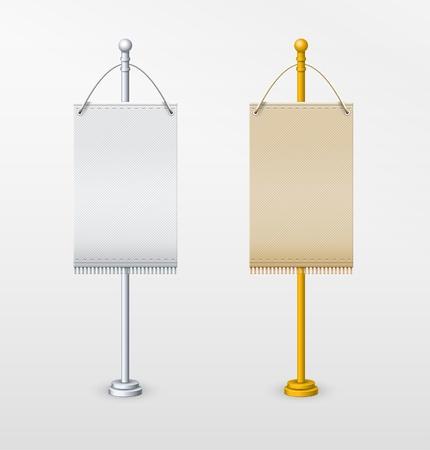 Blank banner flag for designers