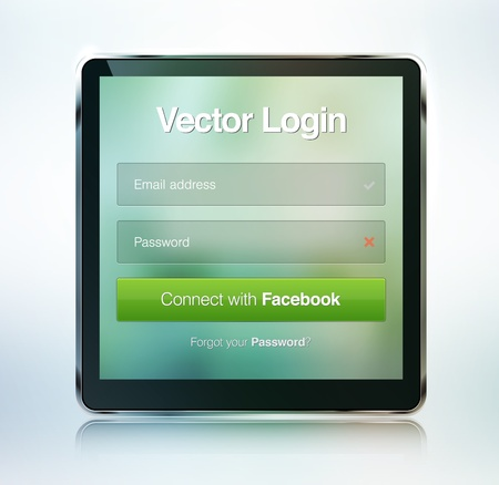 web page login password security screen