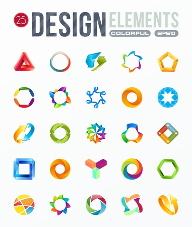 icon set  logo design elements Stock Vector - 19832030