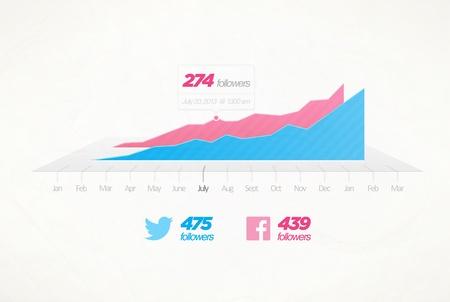 Infographic design element  Graph table Illustration