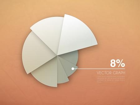 grafica de pastel: Esquema gráfico de vector gráfico Vectores