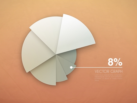 results: graph diagram  vector pie chart Illustration