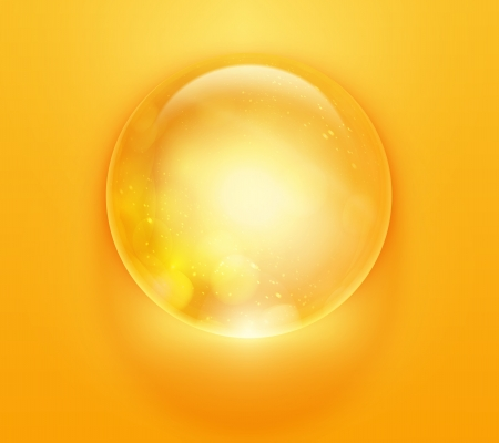 psychic: colorful glossy sphere  Illustration