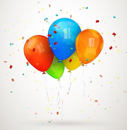 holiday balloons illustration