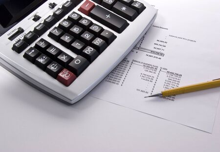 10 Key Calculator on Financial Statement