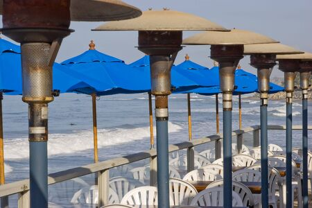 Outdoor patio cafe on the San Clemente Pier