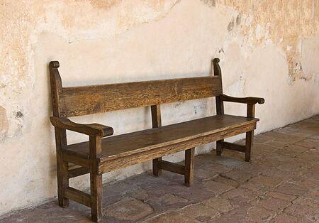 Bench at Mission San Juan Capistrano