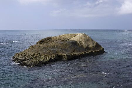 Rock for birds to rest by Dana Point Stock Photo