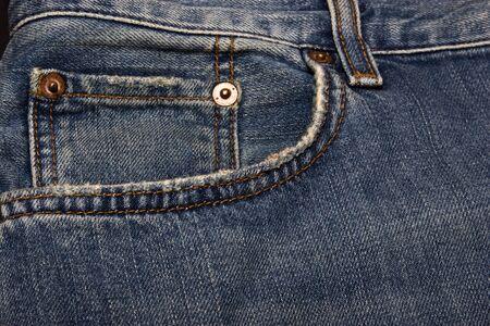 Blue jeans pocket as background