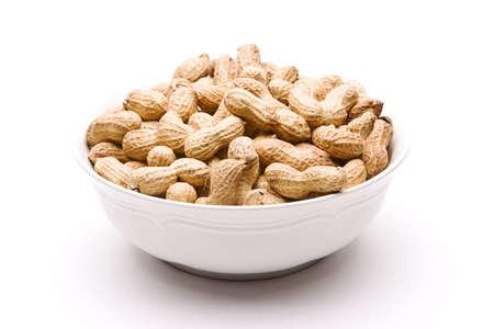 Bowl of roasted peanuts