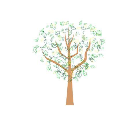 deciduous tree: Hoja caduca abstracto �rbol