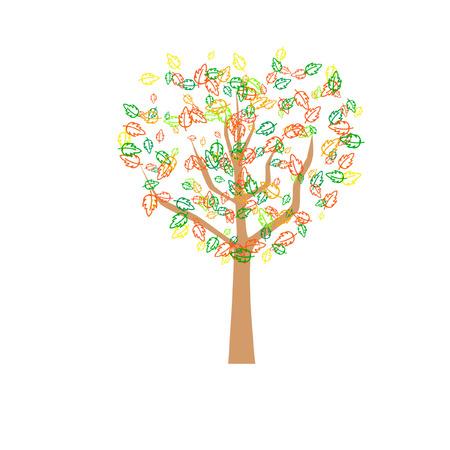 dampness: Autumn abstract tree Illustration