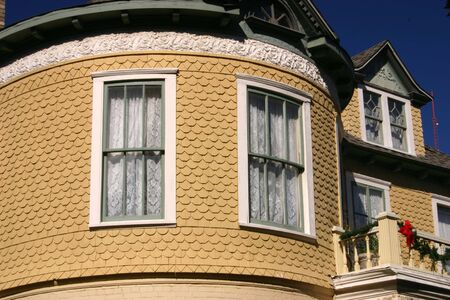 Detail of Victorian house in the King William historic district in San Antonio Texas Imagens - 708337