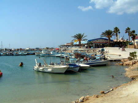 A general view of the harbour at Ayia Napa beach in Cyprus.
