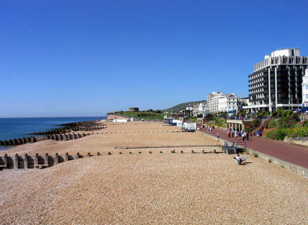A general view of the seafront and promenade pictured in the city of Eastbourne, in the UK. Stock Photo - 1745370