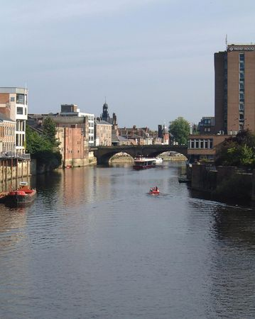 ouse: A general view of the River Ouse York taken from Lendal bridge, in York, in England