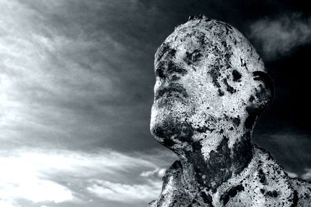 famine: Close up of the scary famine statue in Dublin, dedicated to the victims on the potato famine in Ireland.