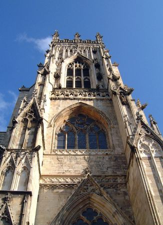 A general view of the south tower of York Minster, in York, in England